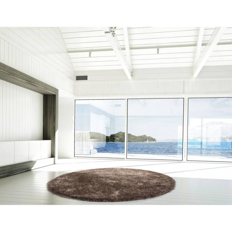 tappeto moderno tinta unita rotondo diamond 700 tortora