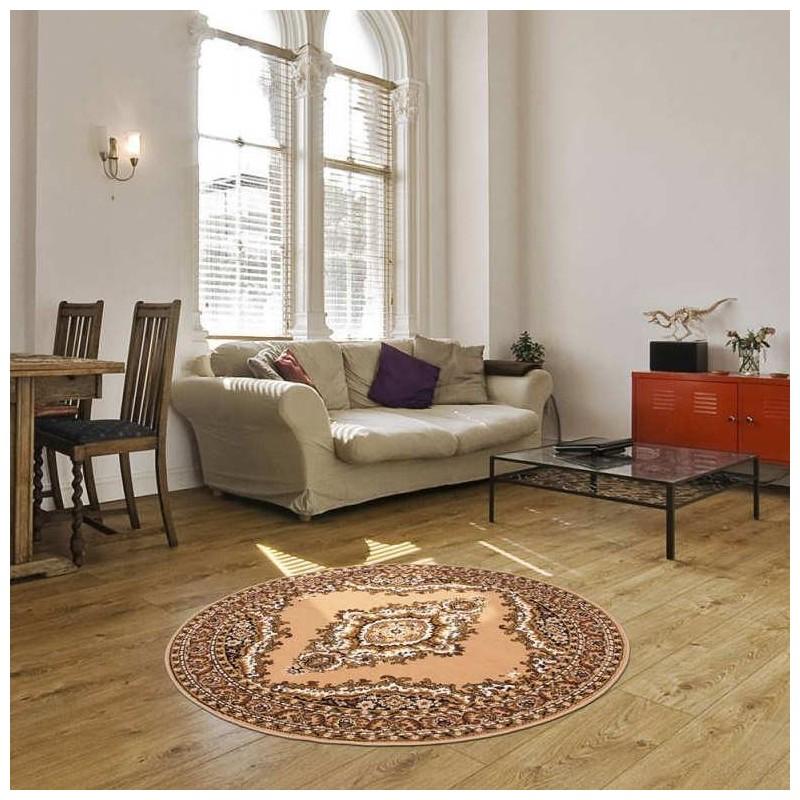 tappeto moderno classico rotondo iran teheran beige