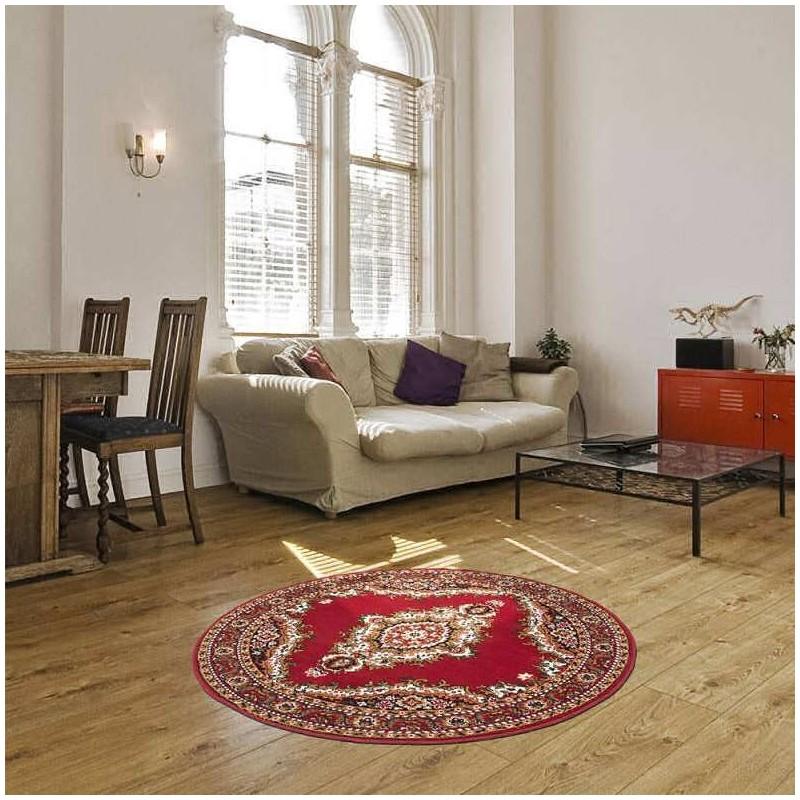 tappeto moderno classico rotondo iran teheran rosso