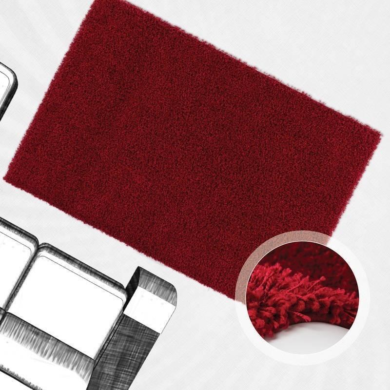 tappeto moderno tinta unita rotondo norway oslo rosso