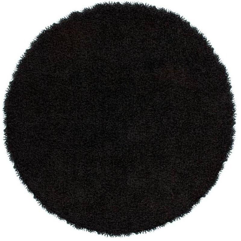 tappeto moderno tinta unita rotondo norway oslo nero