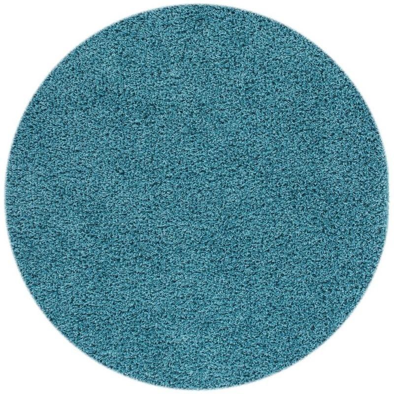 tappeto moderno tinta unita rotondo norway oslo blu