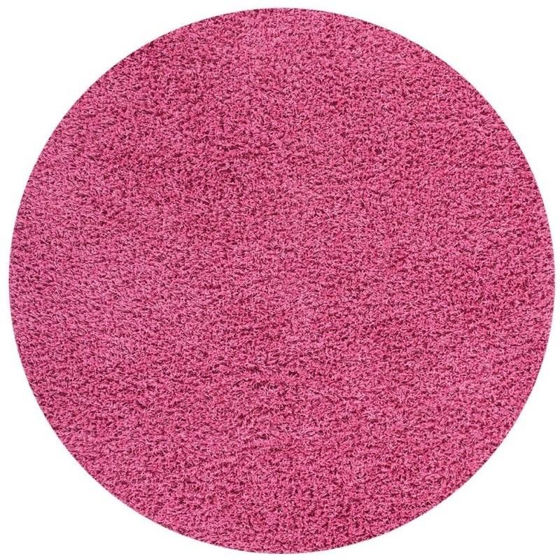 tappeto moderno tinta unita rotondo norway oslo rosa