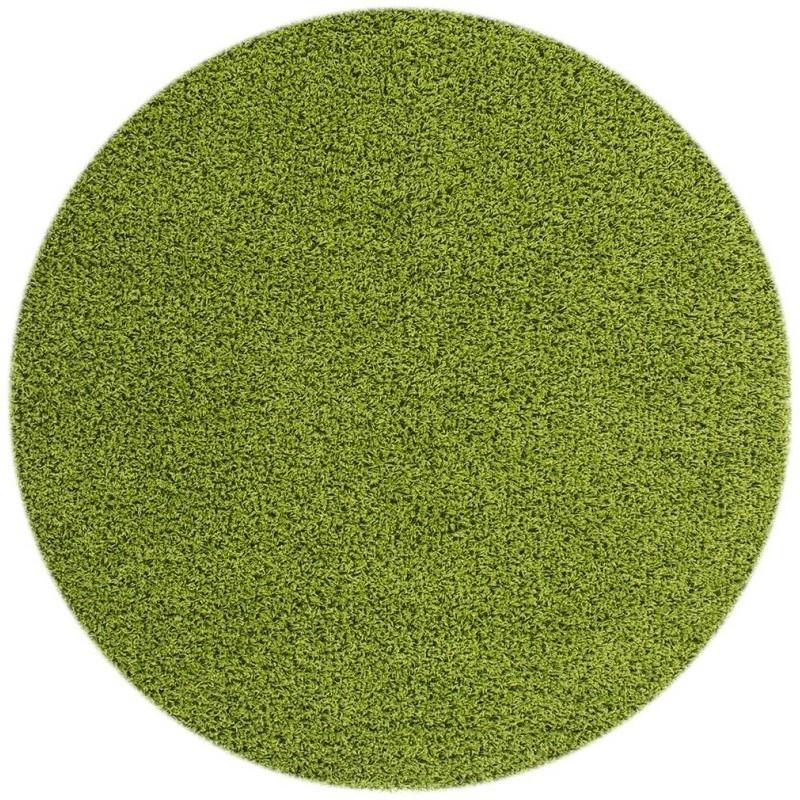 tappeto moderno tinta unita rotondo norway oslo verde