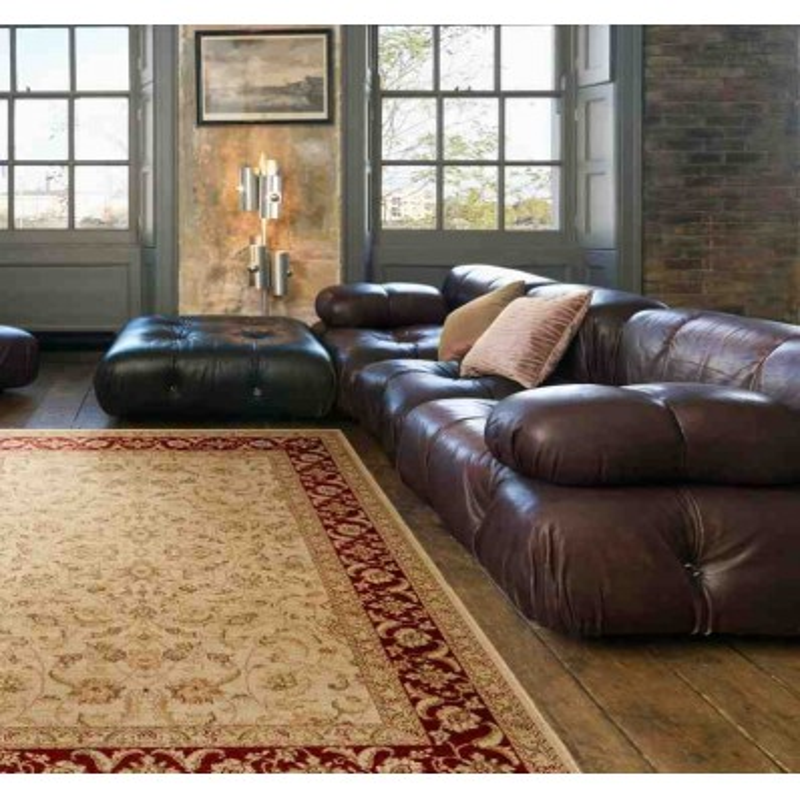 tappeto classico floreale Windsor WIN01 beige effetto antico