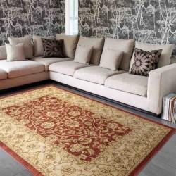 tappeto classico floreale Windsor WIN02 rosso effetto antico