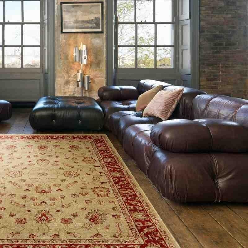 tappeto classico floreale Windsor WIN03 beige effetto antico