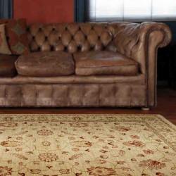 tappeto classico floreale Windsor WIN04 beige effetto antico