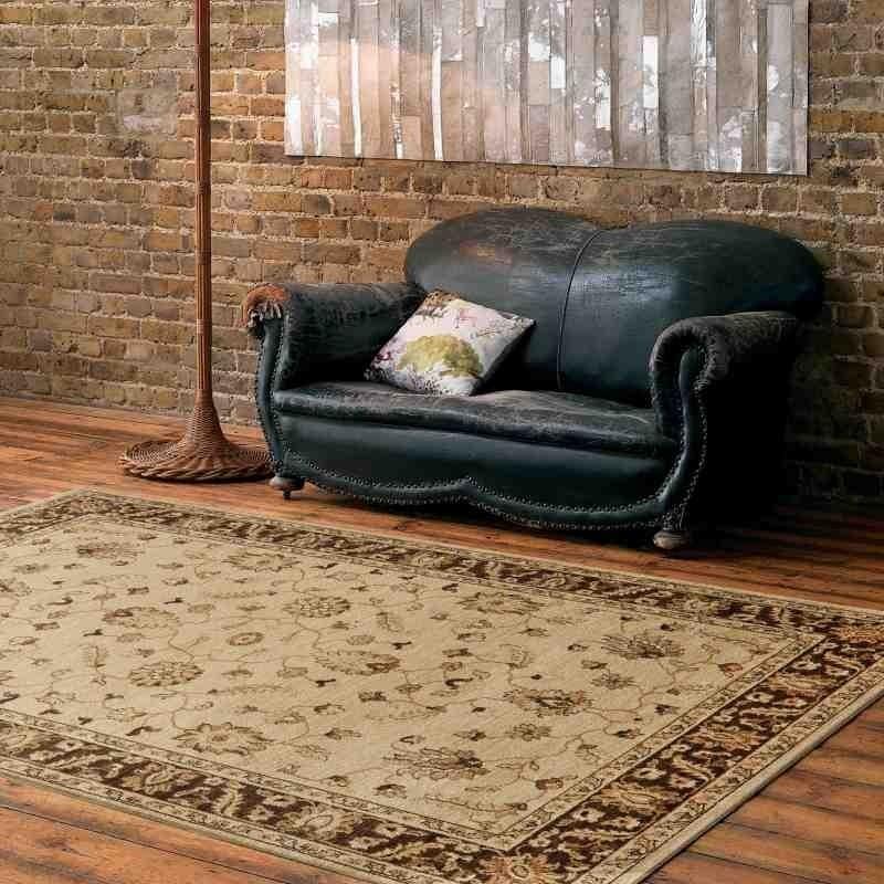 tappeto classico floreale Windsor WIN05 beige effetto antico