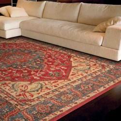tappeto classico floreale Windsor WIN08 rosso effetto antico