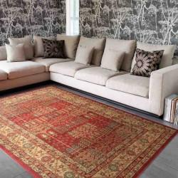 tappeto classico floreale Windsor WIN09 rosso effetto antico