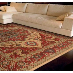 Carpet classico floreale Windsor WIN10 rosso effetto antico