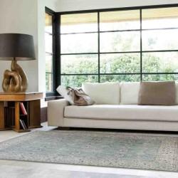 Carpet classico floreale Windsor WIN11 azzurro effetto antico