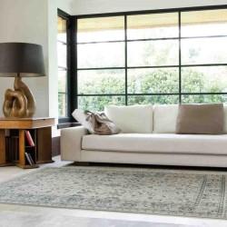 tappeto classico floreale Windsor WIN12 azzurro effetto antico