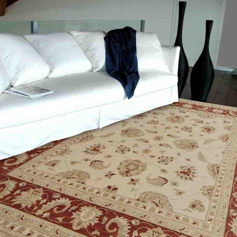 tappeto classico floreale Chobi cb02 beige lana