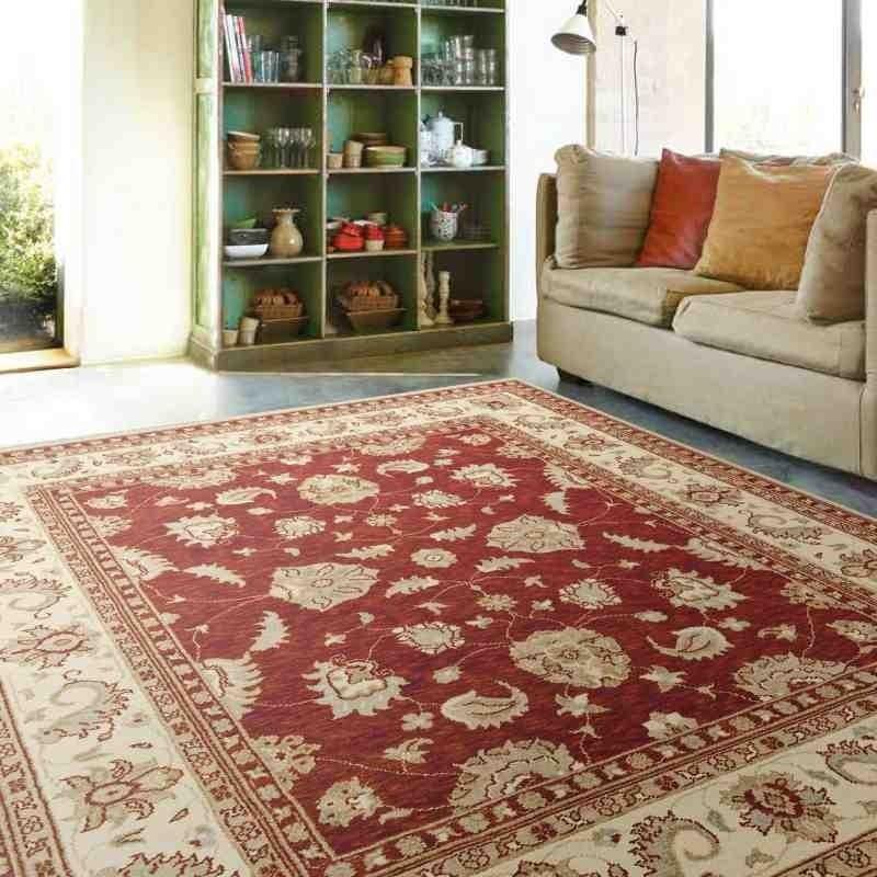tappeto classico floreale Chobi cb08 rosso lana