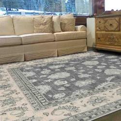 tappeto classico floreale Chobi cb09 grigio lana