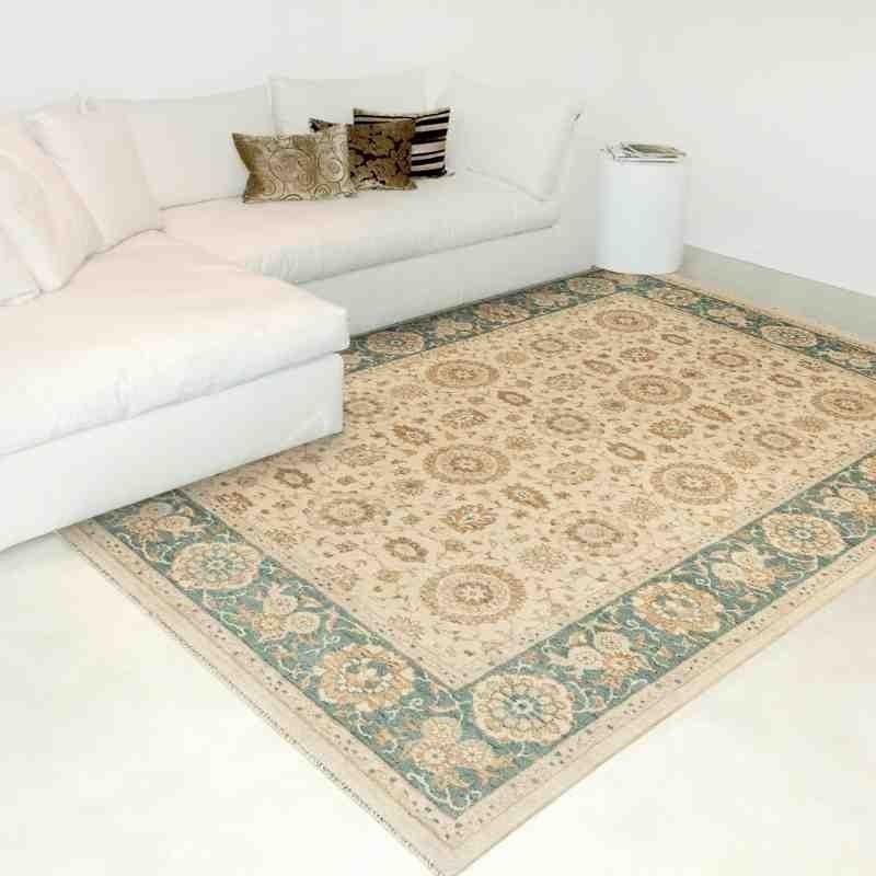 tappeto classico floreale Chobi cb05 verde lana