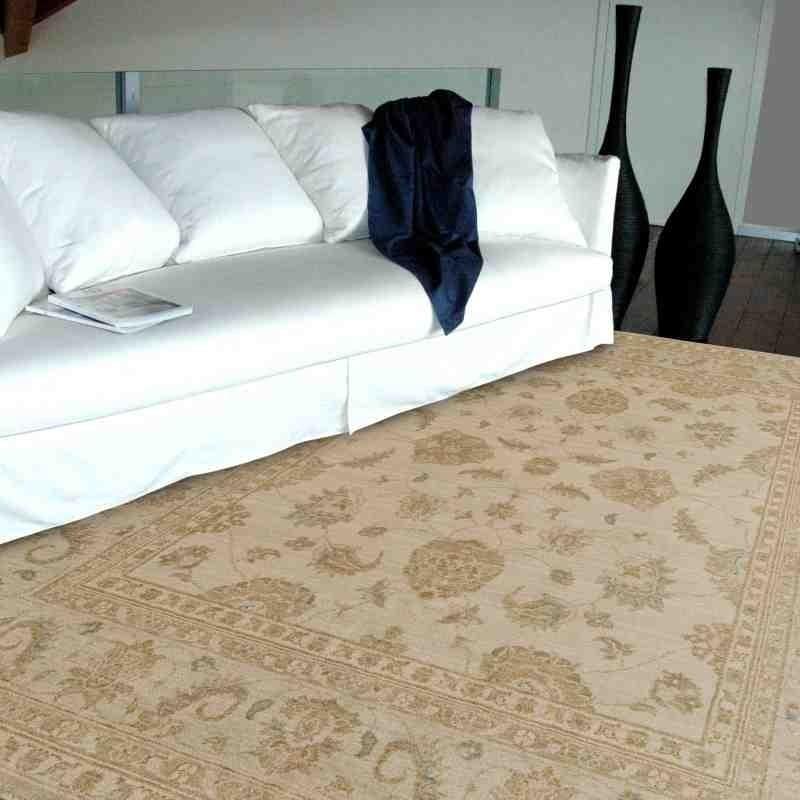 tappeto classico floreale Chobi cb01 beige lana