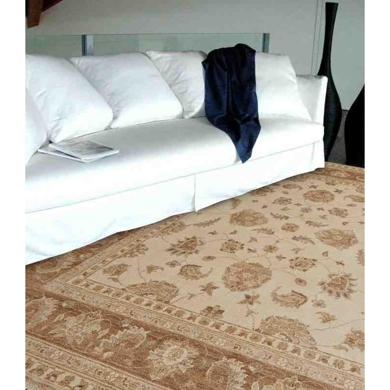 tappeto classico floreale Chobi cb03 beige lana