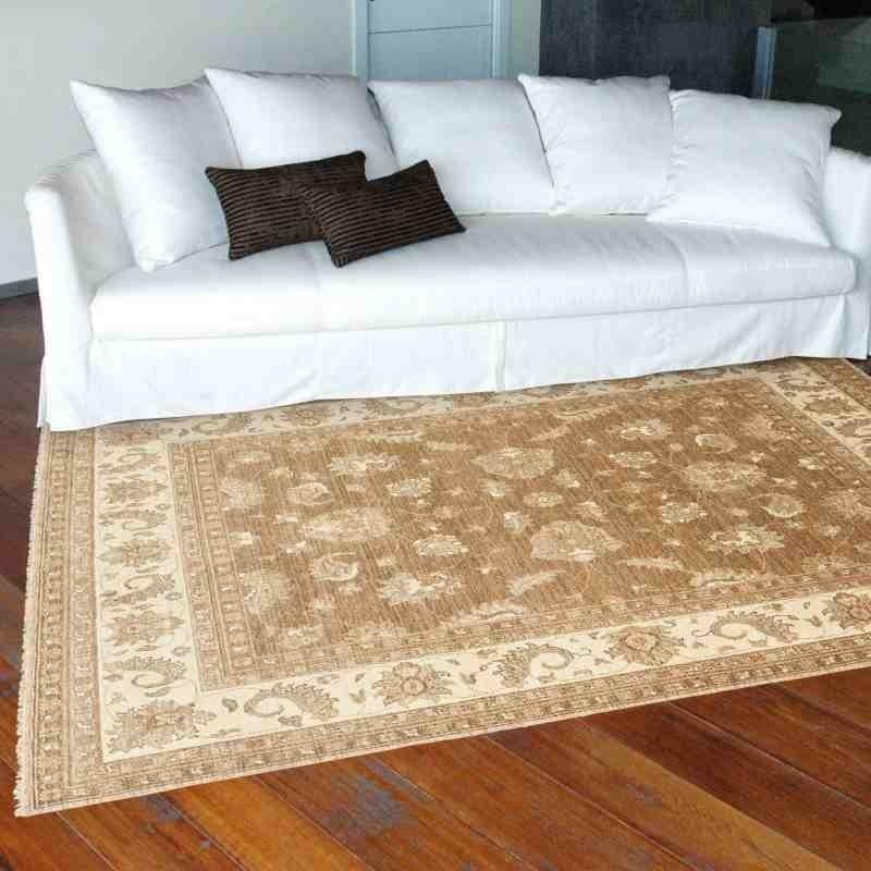 Carpet classico floreale Chobi cb06 marrone lana