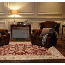 Carpet classico floreale Agra Twist Red rosso lana