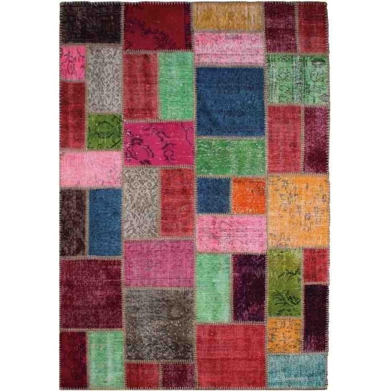 tappeto vintage patchwork ReForm Multi Patchwork multicolor lana