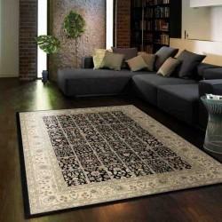 Carpet classico floreale Viscount V59 nero