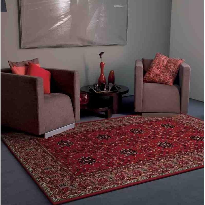 Carpet classico floreale Viscount V61 rosso