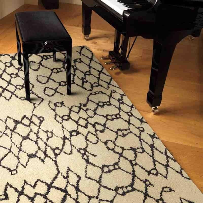tappeto moderno geometrico Amira AM007 beige lana