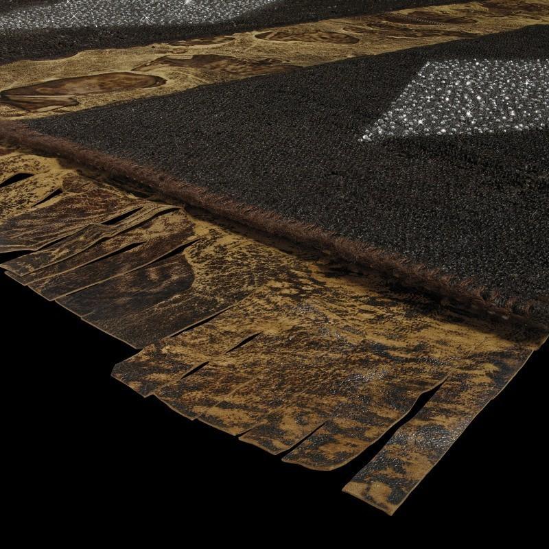Carpet LADY IN BROWN SITAP LANA geometrico da EUR 1842.2