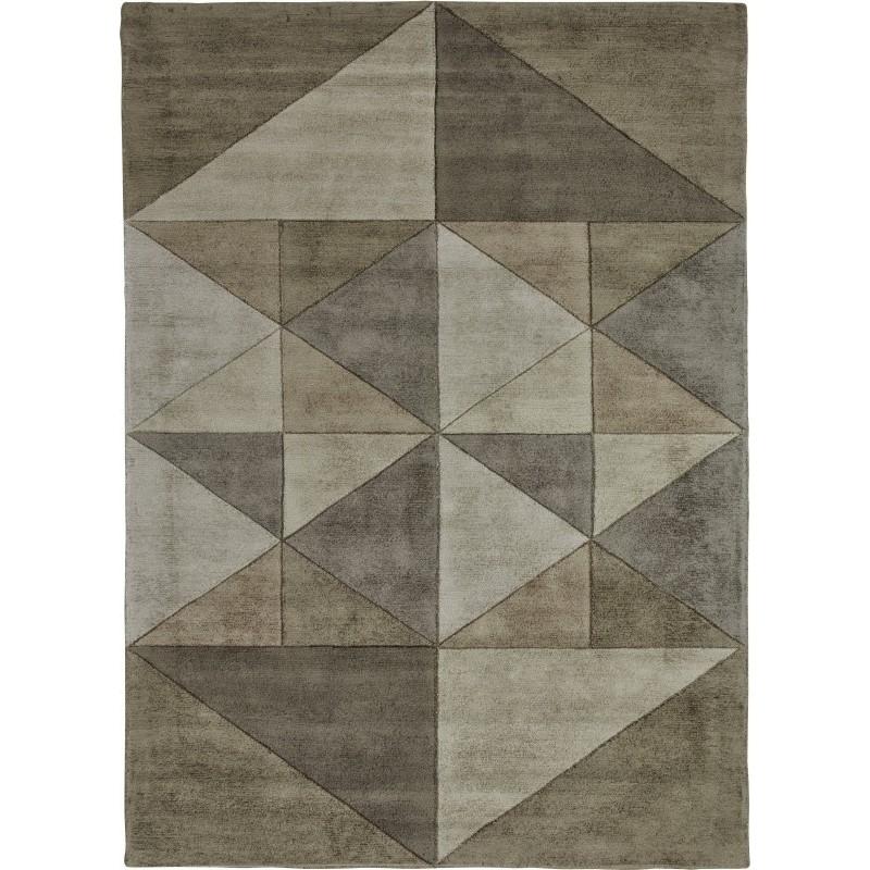 tappeto TRIANGLES SITAP BEIGE SETA geometrico da EUR 872.3