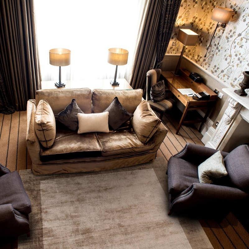 Tappeto moderno Blade Border Choco Mocha Quadrato Asiatic Carpets