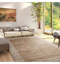 Tappeto moderno Blade Border Putty Champagne Asiatic Carpets