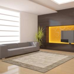 Tappeto moderno Blade Border Smoke Putty Quadrato Asiatic Carpets