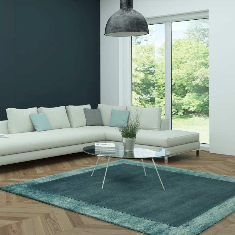 Tappeto moderno Ascot Aqua Blue Asiatic Carpets