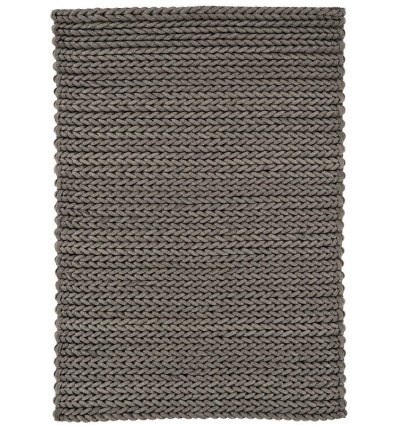 Tappeto moderno Helix Felted Wool Braid Grey Asiatic Carpets