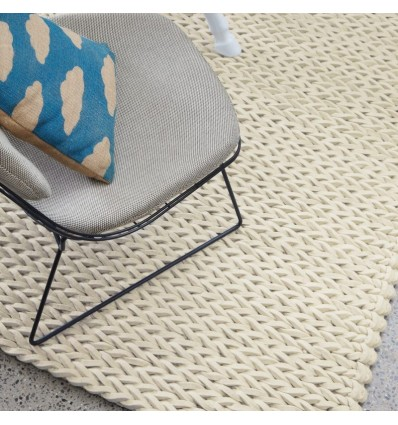 Tappeto moderno Helix Felted Wool Braid Ivory Asiatic Carpets