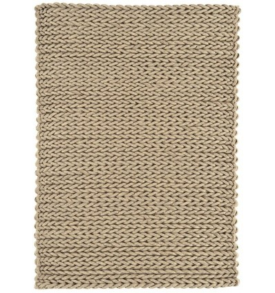 Tappeto moderno Helix Felted Wool Braid Taupe Asiatic Carpets