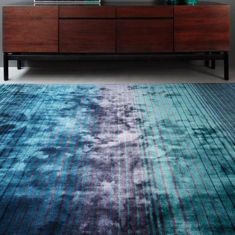Tappeto moderno Holborn Stripe Indigo Asiatic Carpets