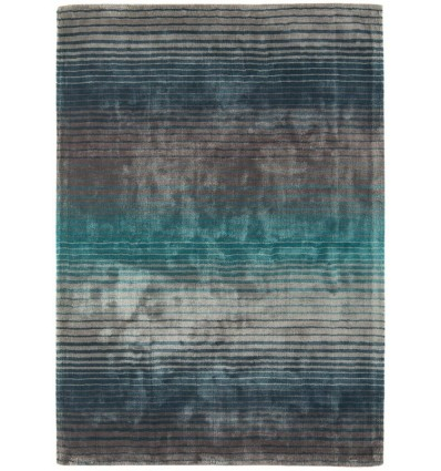Tappeto moderno Holborn Stripe Turquoise Asiatic Carpets