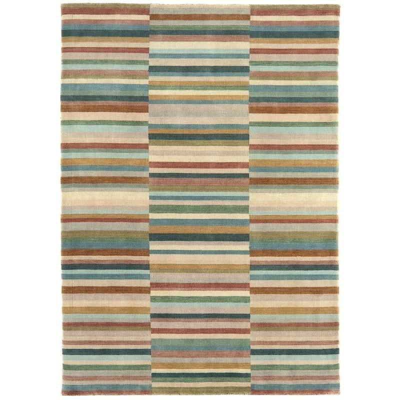 Tappeto moderno Jacob Stripe Green Multi Asiatic Carpets