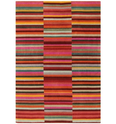 Tappeto moderno Jacob Stripe Red Multi Asiatic Carpets