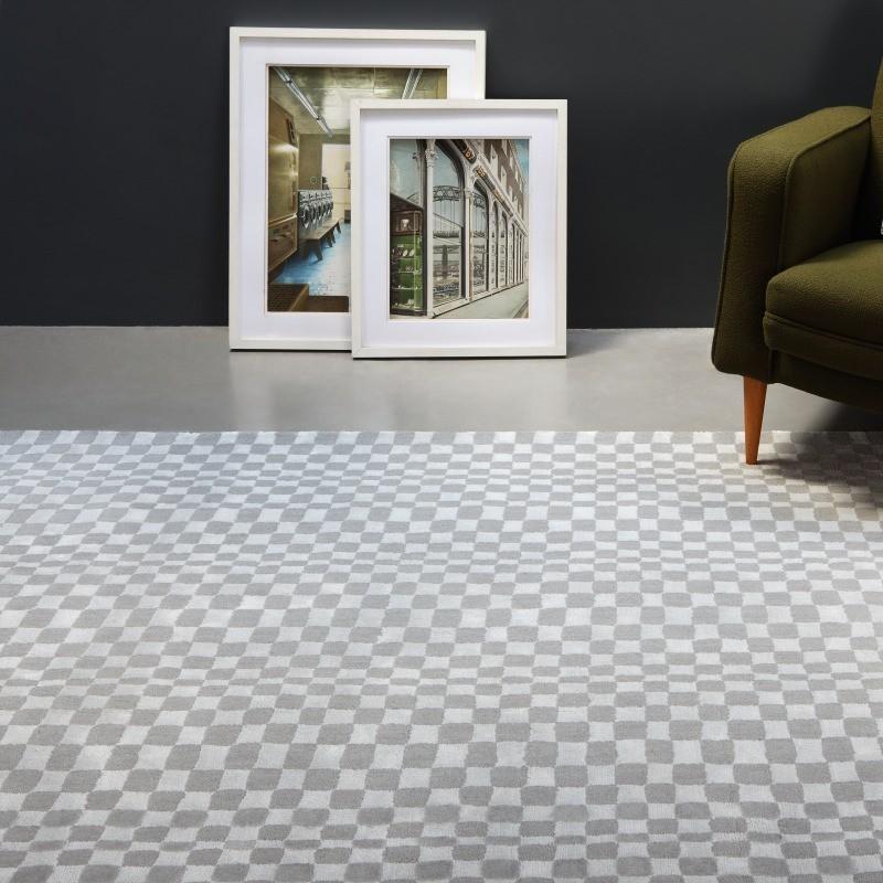 Tappeto moderno Oska Silver Asiatic Carpets