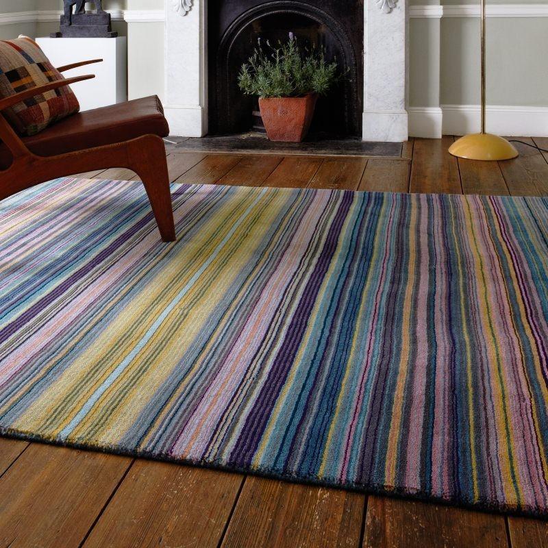 Tappeto moderno Pimlico Fine Stripe Blue Asiatic Carpets