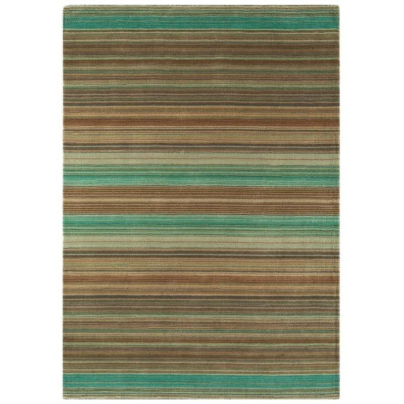 Tappeto moderno Pimlico Fine Stripe Green Asiatic Carpets