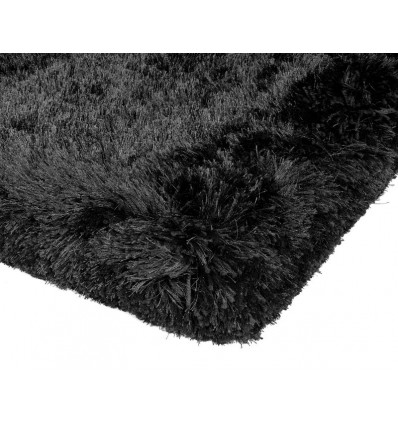 Tappeto moderno Plush Shaggy Black Asiatic Carpets