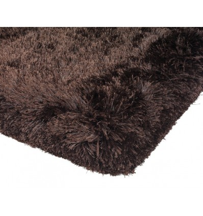 Tappeto moderno Plush Shaggy Dark Chocolate Asiatic Carpets