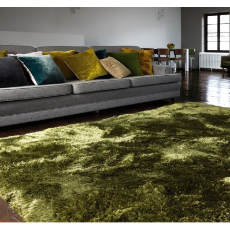 Tappeto moderno Plush Shaggy Green Asiatic Carpets