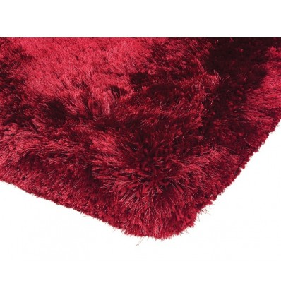 Tappeto moderno Plush Shaggy Red Asiatic Carpets